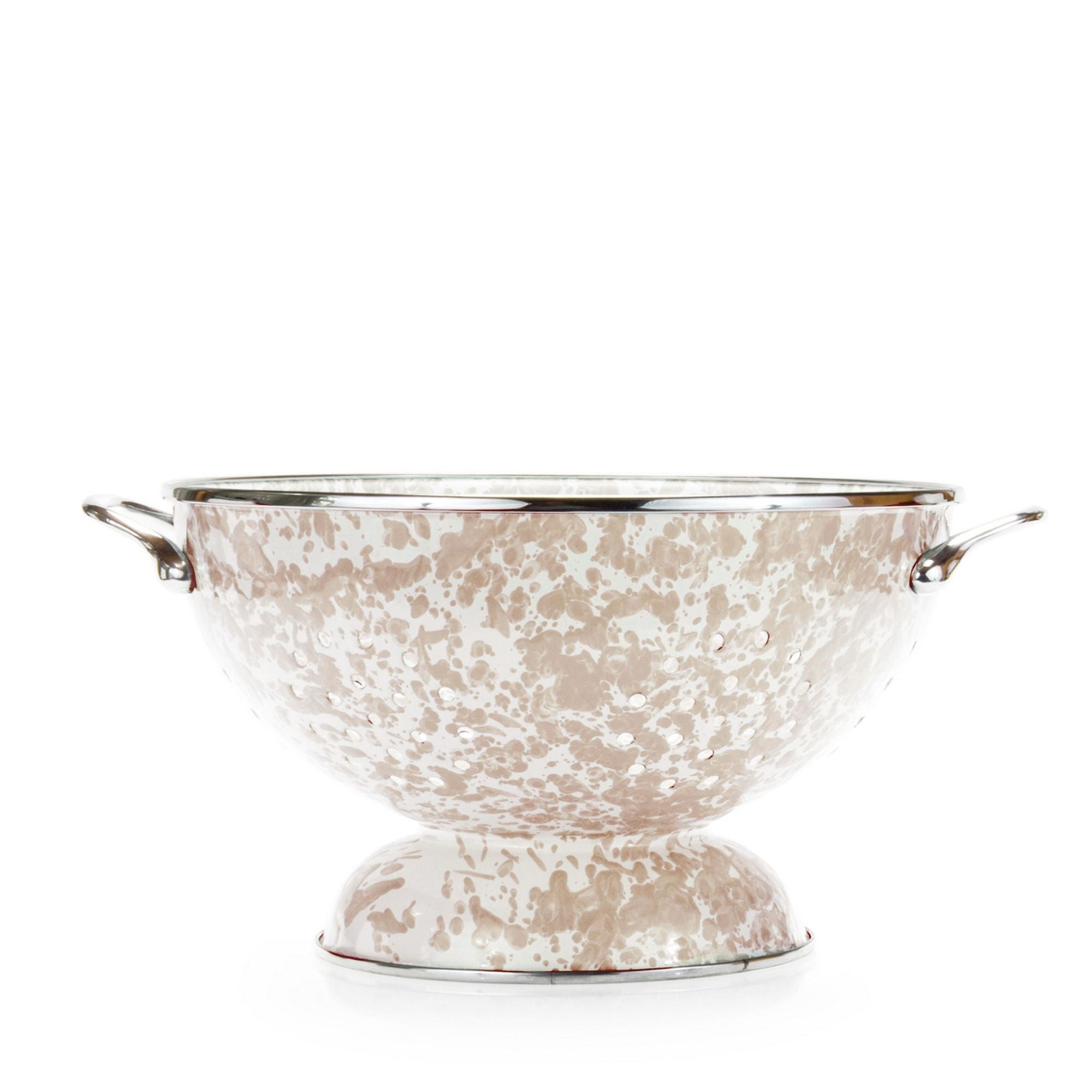 TP25 Taupe Swirl Large Colander