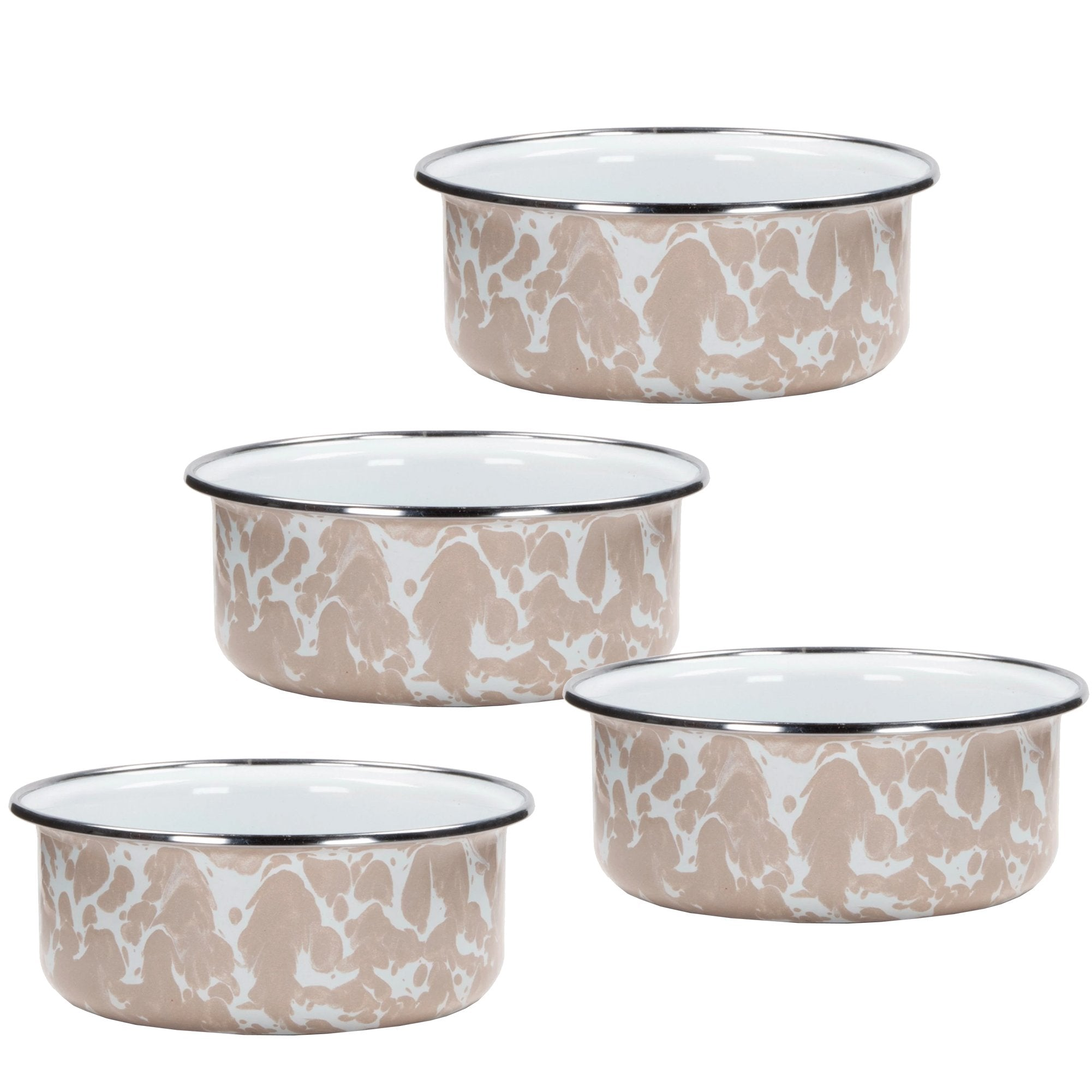 TP60S4 - Set of 4 Taupe Swirl Soup Bowls Product 1