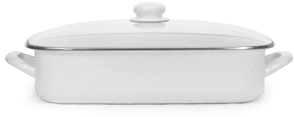 WW15 White on White Texture Lasagna Pan Set