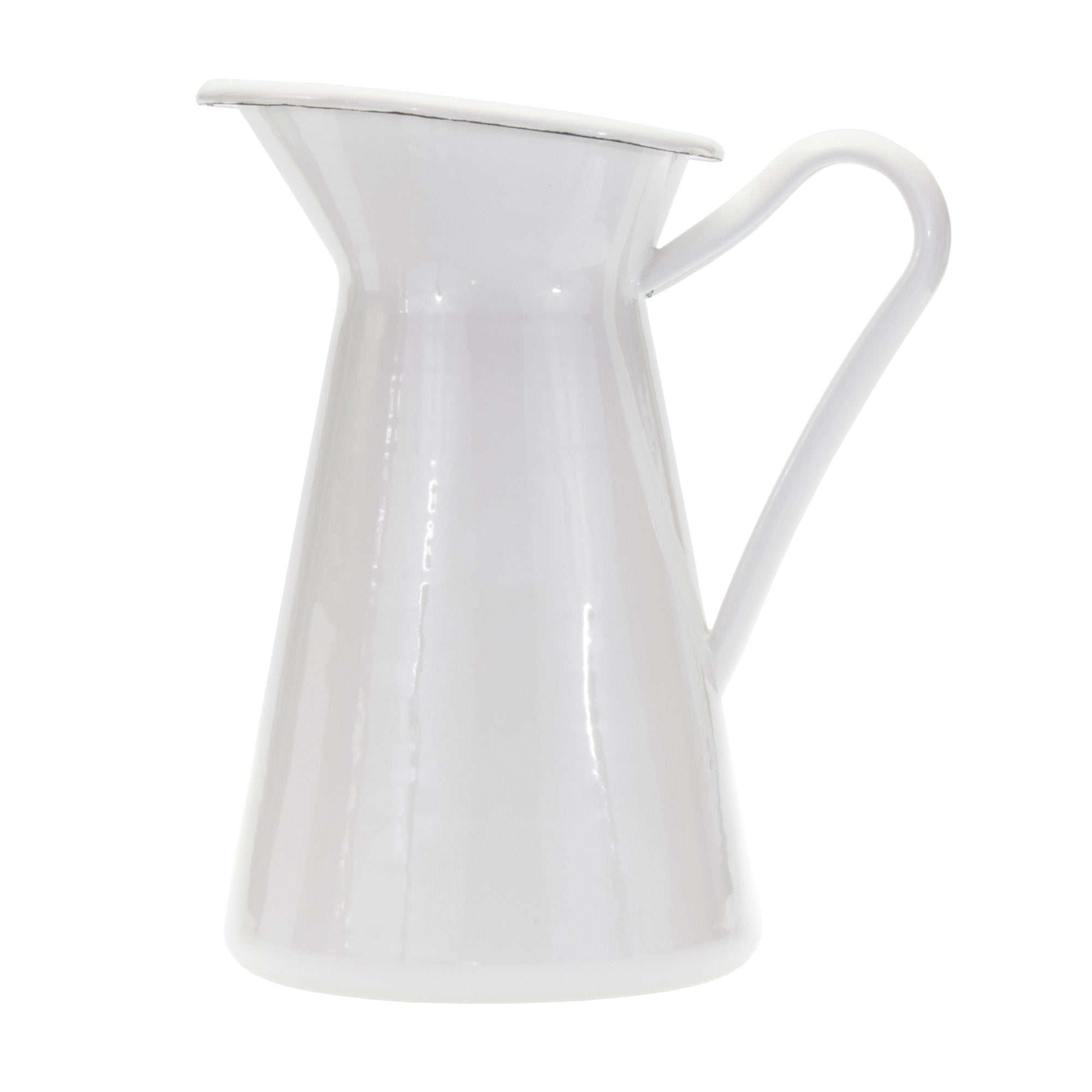 WW67- Solid White - Enamelware - Pitcher by Golden Rabbit