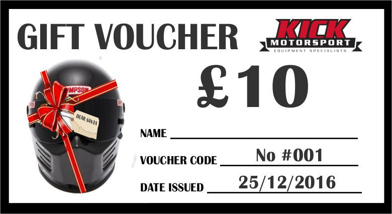 KICK MOTORSPORT GIFT VOUCHER