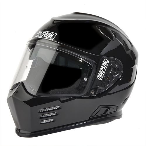 JUST ARRIVED GLOSS BLACK SIMPSON GHOST MOTORCYCLE HELMET