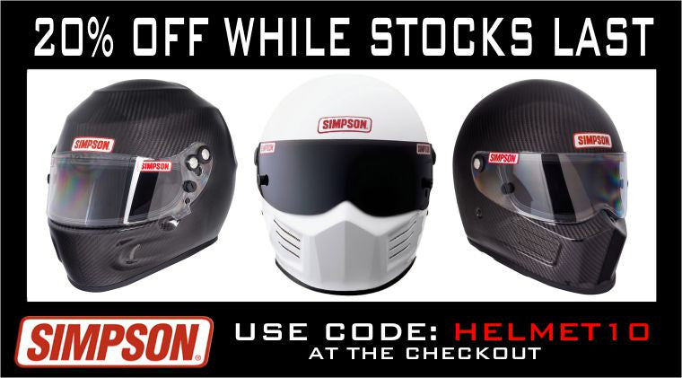 HURRY WHILE STOCKS LAST get your 20% off all 2010 Simpson Helmets