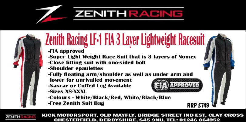 ZENITH RACING LF-1 FIA 3 LAYER LIGHTWEIGHT RACING SUITS