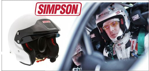SIMPSON RALLY HELMET FIA 8859-2015 IN STOCK READY FOR DESPATCH