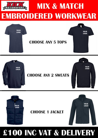 Mix & Match Embroidered Workwear Package