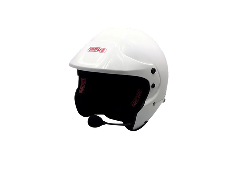 Simpson Rally Helmet White Peak