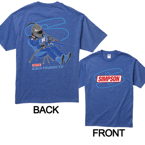 Simpson Racing Products T-Shirt Blue