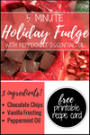 Holiday Peppermint Fudge with Essential Oils (Prepare in 5 Minutes!)
