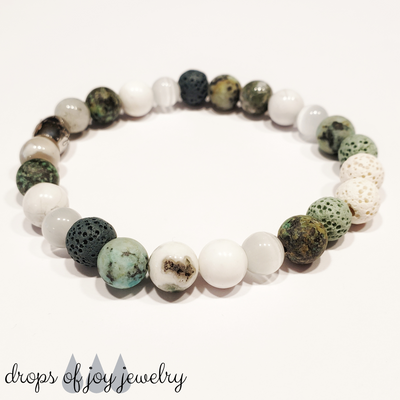 Color Me Green Lava Diffuser Bracelet