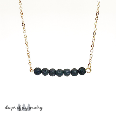 7 Mini Bead Gold Diffuser Necklace
