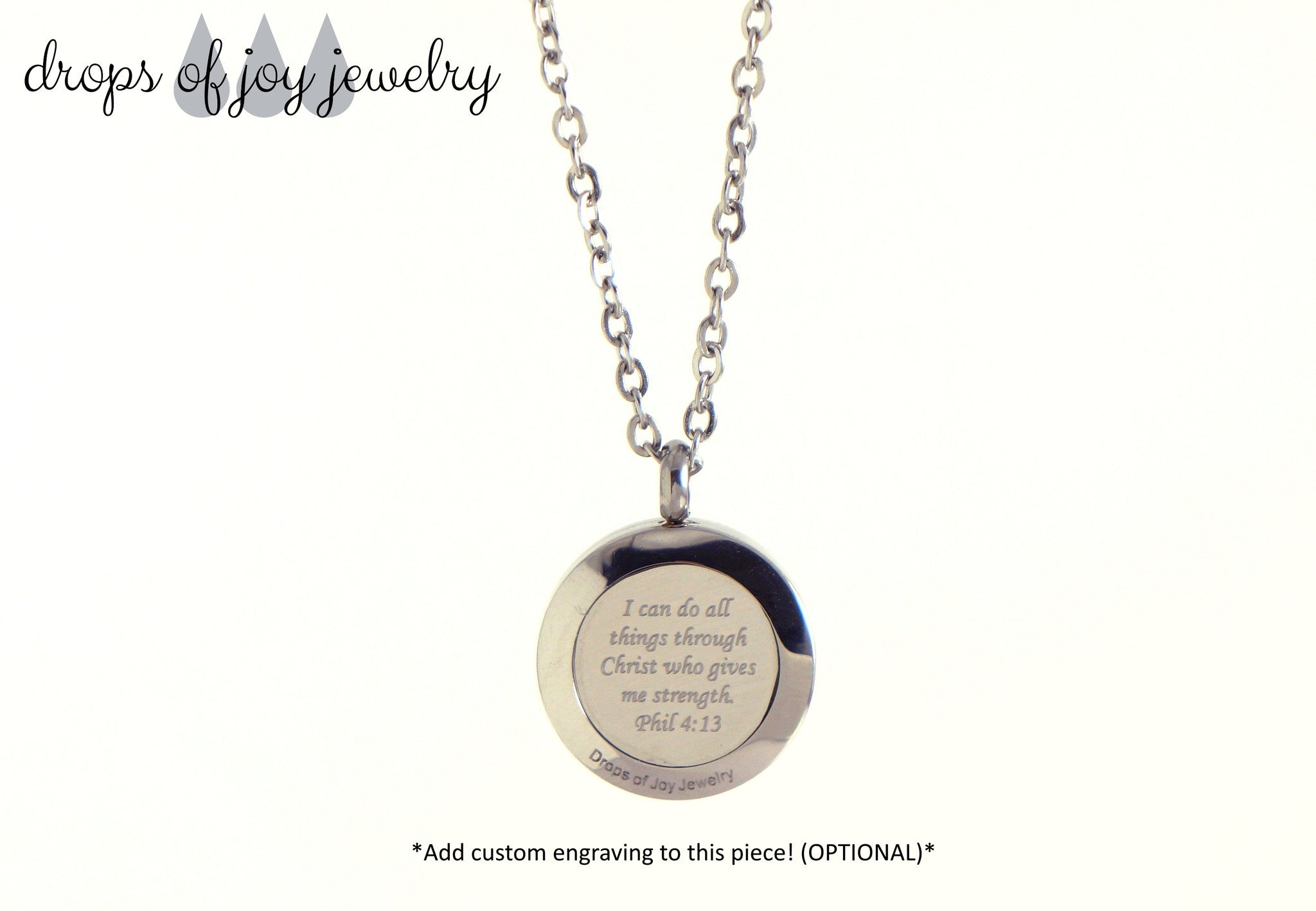 Engraved Diffuser Jewelry - Customized Essential Oil Jewelry