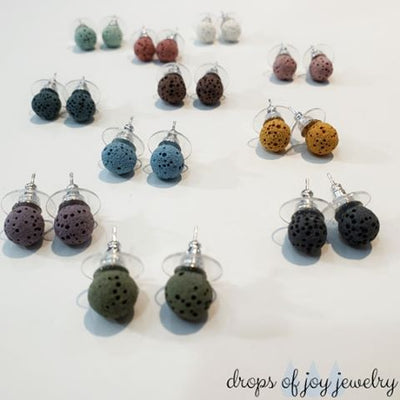 Lava Stud Earrings - Choose Your Color