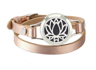 Lotus Diffuser Wrap Bracelet - Color choice