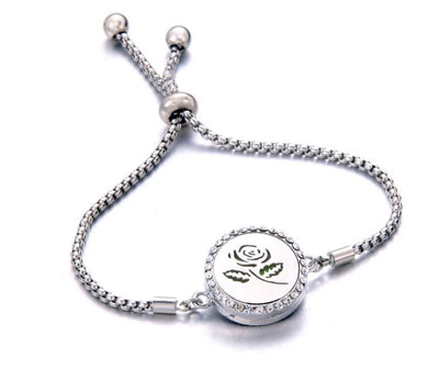 Silver Dangle Locket Diffuser Bracelets