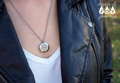 essential oil diffuser necklace - signature sunburst