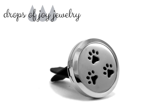 Paw Print Car Diffuser - Essential Oil Aromatherapy Diffuser
