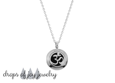 OM Yoga Essential Oil Diffuser Necklace - Drops of Joy Jewelry - Aromatherapy Jewelry