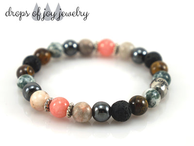 Lava Stone Diffuser Bracelet - Grounding - Drops of Joy Jewelry