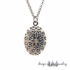 Silver Lotus Locket Diffuser Necklace