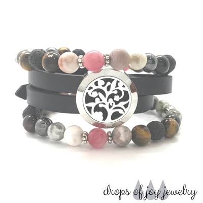 Abundance Combo w Grounded Bracelets & Flowering Tree Wrap