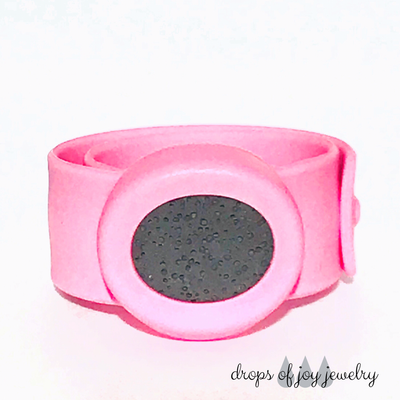 Kids Silicone Essential Oil Bracelet, Pink