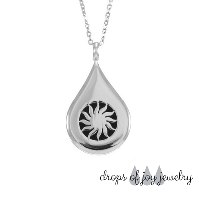 Sunshine Oil Drop Diffuser Necklace