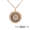 Crystal Hearts Diffuser Necklace - Rose Gold