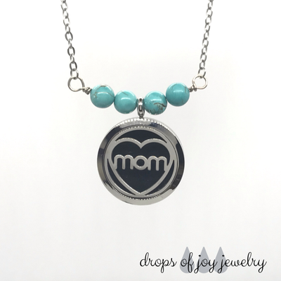 Custom Diffuser Necklace - Mom's Heart
