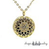 Crystal Hearts Diffuser Necklace - Gold