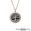 Tree of Life Diamond Diffuser Necklace