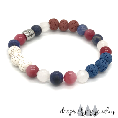 Summer Celebration Diffuser Lava Bracelet