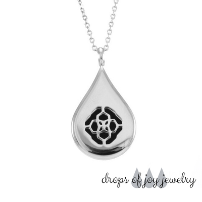 Rose Oil Drop Diffuser Necklace