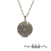 Bronze Lotus Diffuser Necklace