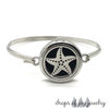 Silver Bangle Locket Diffuser Bracelets