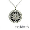 Crystal Hearts Diffuser Necklace - Silver