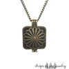 Vintage Flower Diffuser Necklace