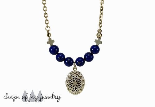 Essential Oil Diffuser Necklace - Drops of Joy Jewelry - Aromatherapy Jewelry