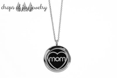 Diffuser Necklace - Mother's Heart - Drops of Joy Jewelry - 1