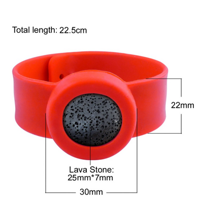 Kids Silicone Essential Oil Bracelet, Red