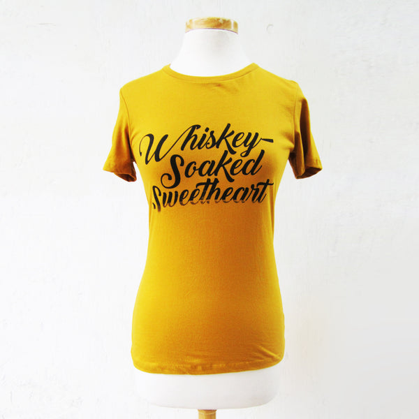 whiskey soaked sweetheart tee