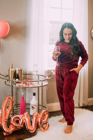Bella V Boutique Loungewear Set for Valentine's Day