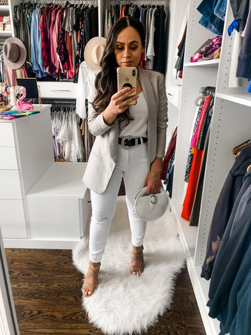Bella V Boutique What to Pair With White Jeans for Spring