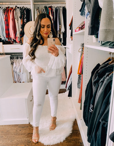 Bella V Boutique White Jeans Outfits for Spring