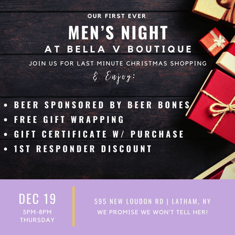 Bella V Boutique Holiday Men's Night