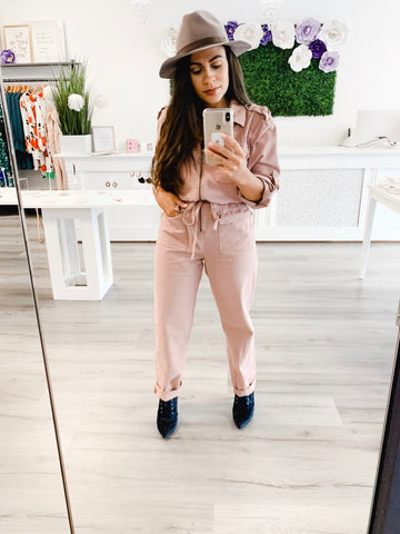 Bella V Boutique Utilitarian Jumpsuit Fall Obsession
