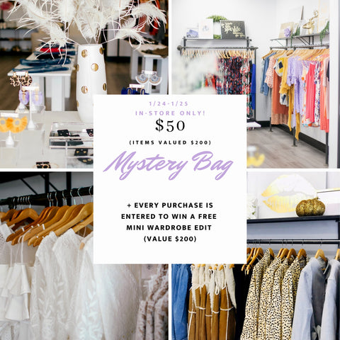 Bella V Boutique in store mystery bag event