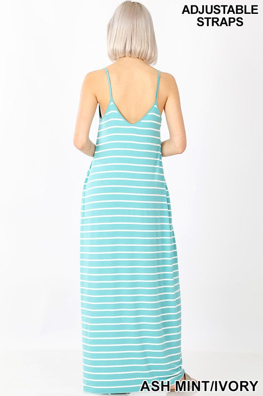 Steph Cami Maxi Dress (Ruby/Ivory)