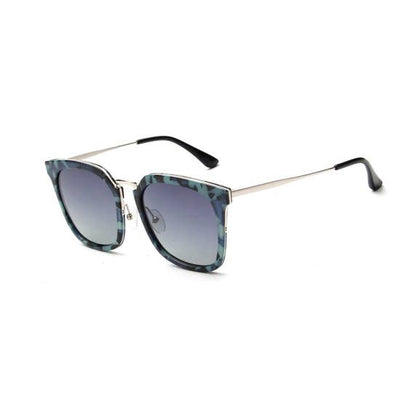 Layla Classic Polarized Square Fashion Sunglasses (Blue)