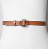 Coco Double Ring Buckle Belt (Camel)